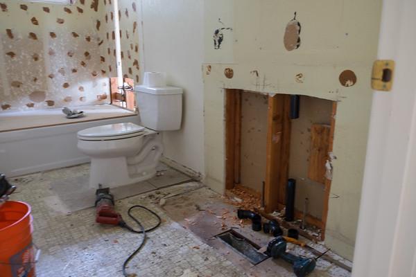 Guest bath plumbing.