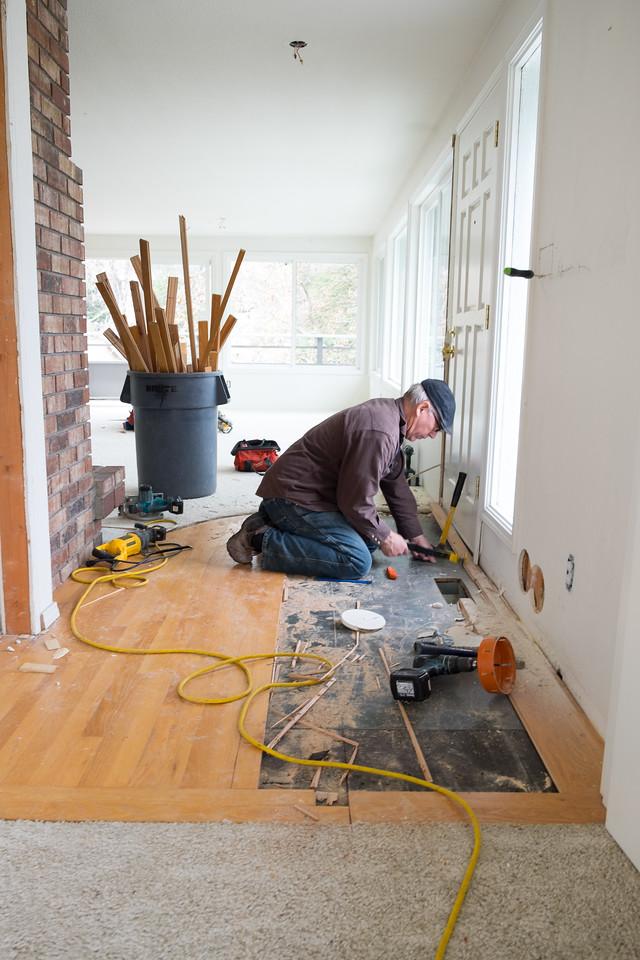entry wood floor going away.