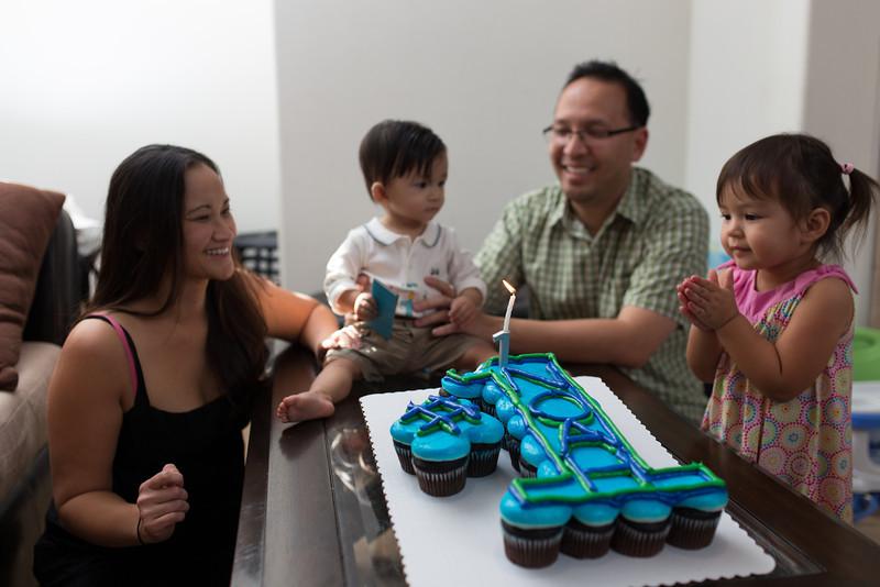 Mommy, Daddy and Remy wish Noah a Happy Birthday