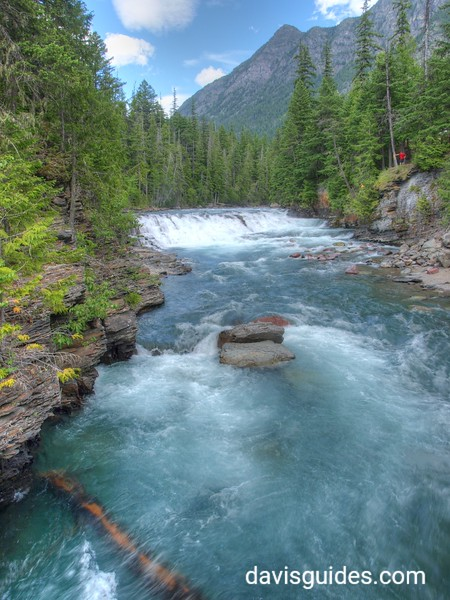 Rapids on Upper MacDonald Creek, Glacier National Park, 2013