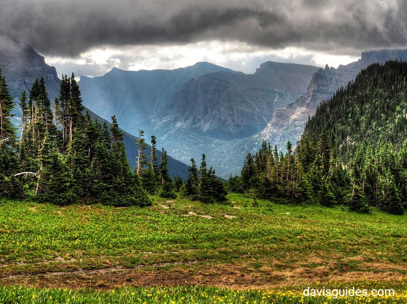 summer storm clearing above Logan Pass, 2016