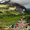 Leaving Logan Pass on the High Line Trail, 2016