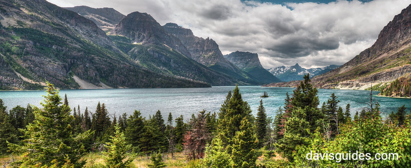 St. Marys Lake panorama, Glacier National Park, 2016