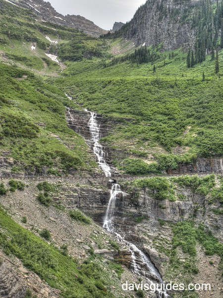 Waterfall on the Going to the Sun Road below Logan Pass, Glacier National Park, 2016
