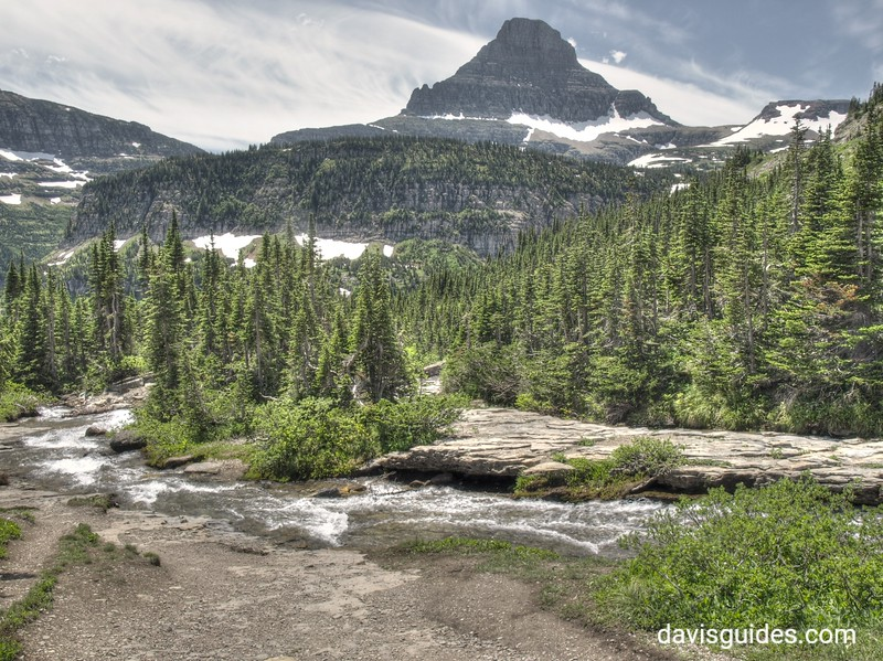 Reynolds Mountain from picnic area east of Logan Pass, 2013