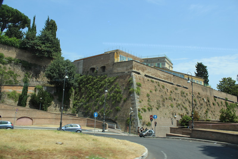 Walls of Vatican city, July 24