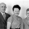 Rentz family:  (L-R) Alfred, Elfieda, and Jim Rentz