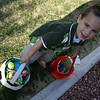 Nolie thought every Easter basket he could hold was his and also the ones that were in his vicinity.