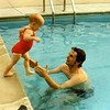 You're about 18 months old and pretty fearless when it came to swimming.  Duncan took you almost every day.