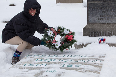 Anisa's almost wreath laying!