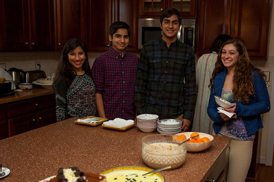 lining up for dessert which was fabulous.  Anisa complained about leaving because she was just getting to know them.