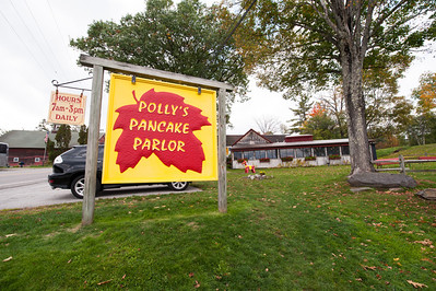 No foliage tour of New Hampshire is complete without a trip to Polly's in the aptly named Sugar Hill. This was taken on September 30.