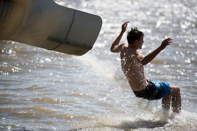 ...makes water slide!