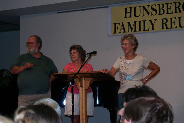 Our hard-working organizers (Rich, Kathy, Sylvia) welcoming us, Friday night