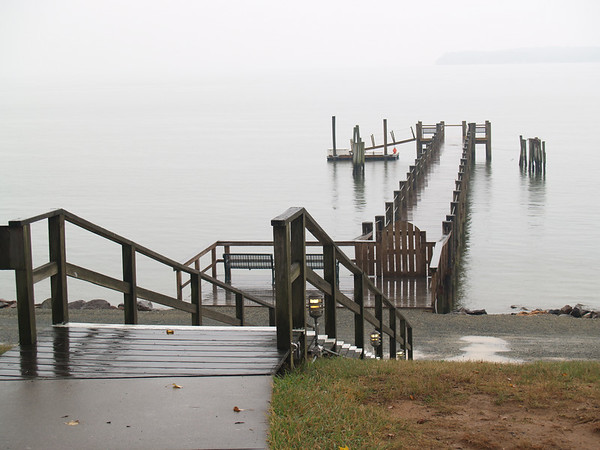 Sandy Cove's dock on the bay