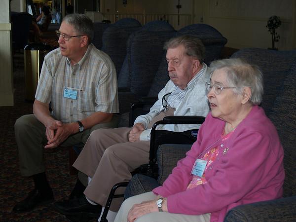 Lounge area  ( Jim O., Earl, Ruth)