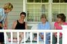 Mary Lou, Juanita, Phyllis & Mom (Kathy) on Juanita's porch