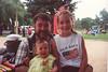 Kennemer Reunion, Carter Ranch, San Lucas, CA, July 7, 2001.  John, Caroline (11 yrs), and Rachel (11 mos) Kane, Salinas County Fairgrounds, King City, CA, July 4, 2001.