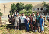 Kennemer Reunion, Carter Ranch, San Lucas, CA, July 7, 2001.  Vern Scattini, Taylor and Twyster Hurley, Sydney Kane in wagon.  In front - Grady John, Kathy, Betsy, Pat, Andy, and Mary Clare Kane. Carter Ranch, July 7, 2001.