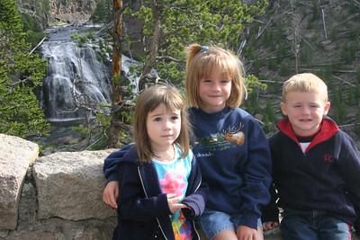 Rachel, Sydney and Christopher at Gibbon Falls