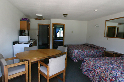The Buffalo Kitchen Cabin at Kirkwood Resort and Marina on Hebgen Lake in Montana.