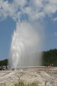 Our timing was perfect as we were able to see the HUGE Beehive Geyser eruption, which only occurs every 12- to 18-hours.