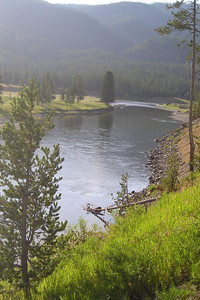 View from the south entrance to Yellowstone National Park