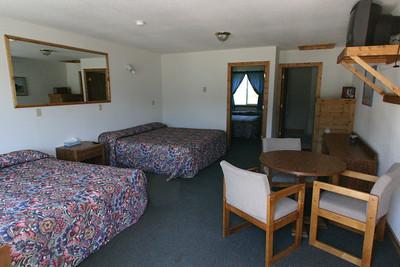 The Buffalo Sleeping Cabin at Kirkwood Resort and Marina on Hebgen Lake in Montana.