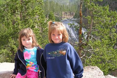 Rachel and Sydney at Gibbon Falls