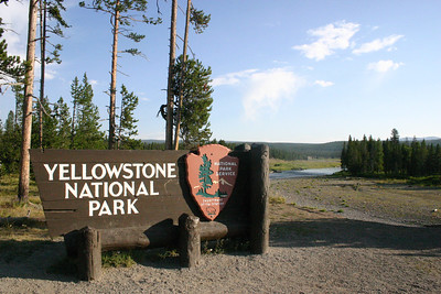 South entrance to Yellowstone National Park