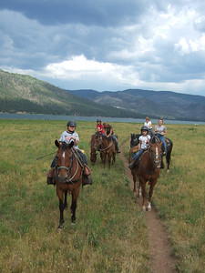 Horseback Riding. 2007 Kane Family Reunion at Pine River Lodge on Vallecito Lake, which is located 23 miles northeast of Durango, Colorado. (Image taken with FinePix F10 at ISO 80, f4.0, 1/340 sec and 8mm)