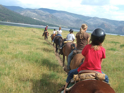 Horseback Riding. 2007 Kane Family Reunion at Pine River Lodge on Vallecito Lake, which is located 23 miles northeast of Durango, Colorado. (Image taken with FinePix F10 at ISO 80, f4.5, 1/320 sec and 10.4mm)
