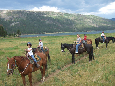 Horseback Riding. 2007 Kane Family Reunion at Pine River Lodge on Vallecito Lake, which is located 23 miles northeast of Durango, Colorado. (Image taken with FinePix F10 at ISO 80, f2.8, 1/450 sec and 8mm)