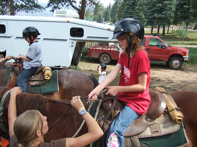 Horseback Riding. 2007 Kane Family Reunion at Pine River Lodge on Vallecito Lake, which is located 23 miles northeast of Durango, Colorado. (Image taken with FinePix F10 at ISO 100, f2.8, 1/400 sec and 8mm)