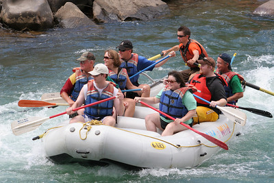 """2007 Kane Family Reunion. We enjoyed an afternoon of rafting the Lower Animas River through Durango, Colorado. The water was low and running slow, but it was still a fun trip, which was described by our operator, Mild to Wild Rafting & Jeep Trail Tours, Inc., as follows: """"relax and enjoy a different view of historic Durango as you bounce through fun-filled rapids like """"Smelter"""", """"Sawmill"""", """"Santa Rita"""" and """"Pinball"""". (Image taken with Canon EOS 20D at ISO 400, f5.6, 1/500 sec and 100mm)"""