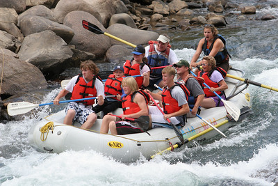 """2007 Kane Family Reunion. We enjoyed an afternoon of rafting the Lower Animas River through Durango, Colorado. The water was low and running slow, but it was still a fun trip, which was described by our operator, Mild to Wild Rafting & Jeep Trail Tours, Inc., as follows: """"relax and enjoy a different view of historic Durango as you bounce through fun-filled rapids like """"Smelter"""", """"Sawmill"""", """"Santa Rita"""" and """"Pinball"""". (Image taken with Canon EOS 20D at ISO 400, f7.1, 1/500 sec and 130mm)"""