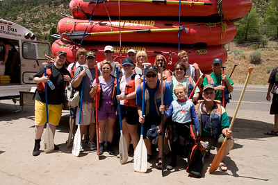 """2007 Kane Family Reunion. We enjoyed an afternoon of rafting the Lower Animas River through Durango, Colorado. The water was low and running slow, but it was still a fun trip, which was described by our operator, Mild to Wild Rafting & Jeep Trail Tours, Inc., as follows: """"relax and enjoy a different view of historic Durango as you bounce through fun-filled rapids like """"Smelter"""", """"Sawmill"""", """"Santa Rita"""" and """"Pinball"""". (Image taken with Canon EOS 20D at ISO 200, f11.0, 1/250 sec and 17mm)"""