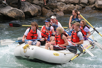 """2007 Kane Family Reunion. We enjoyed an afternoon of rafting the Lower Animas River through Durango, Colorado. The water was low and running slow, but it was still a fun trip, which was described by our operator, Mild to Wild Rafting & Jeep Trail Tours, Inc., as follows: """"relax and enjoy a different view of historic Durango as you bounce through fun-filled rapids like """"Smelter"""", """"Sawmill"""", """"Santa Rita"""" and """"Pinball"""". (Image taken with Canon EOS 20D at ISO 400, f5.6, 1/500 sec and 105mm)"""