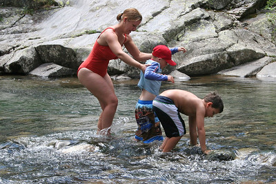 Chris Kane, Tricia & Donald Cano at Vallecito Creek, Colorado 7/16/07