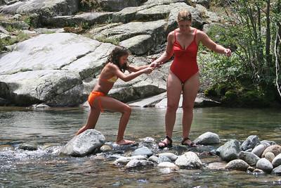 Katy & Tricia Cano at Vallecito Creek, Colorado 7/16/07