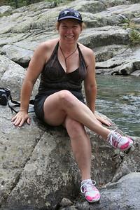 Tracy Kane at Vallecito Creek, Colorado 7/16/07