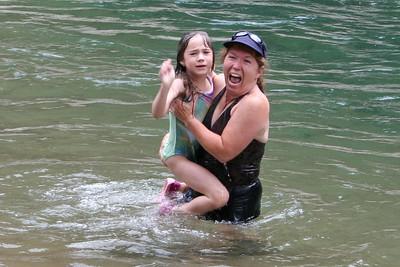 """Rachel saying """"Enough"""" w/Tracy Kane at Vallecito Creek, Colorado 7/16/07"""