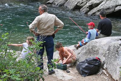 Sydney Kane, Frank & Katy Cano, Chris and Pat Kane at Vallecito Creek, Colorado 7/16/07