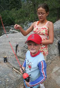 Chris Kane and Katy Cano at Vallecito Creek, Colorado 7/16/07