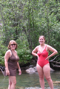 2007 Kane Family Reunion. We enjoyed an afternoon of wading and fishing in the Vallecito Creek near the Vallecito Campground at the end of CR-500, which is above Vallecito Reservoir. At close to 8,000-ft elevation, you could count on the water being cold and it dang sure was! We weren't sure if there were any fish in the creek as the campground host said they only pulled one a day out of the river near the campground. Supposedly the better fishing was upstream along the Vallecito Creek Trail in the Weminuche Wilderness, so Frank, Grady and Nathan took the four mile hike upstream and returned with three small trout (two for Nathan and one for Grady). Christopher skipped the hike and caught two small trout right at the campground. Apparently the bigger fish were only a few yards upstream as we saw another camper walk by with several large trout. Here's a good description of the creek:http://gorp.away.com/gorp/publishers/pruett/fis_soc2.htm.
