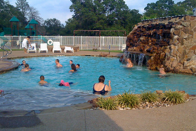 Everyone having a good time in the pool next to the RV lodge. 2010 Kane / Kennemer Family Reunion in Canton, Texas (Image taken by John Kane on 19 Jul 2010 with iPhone)
