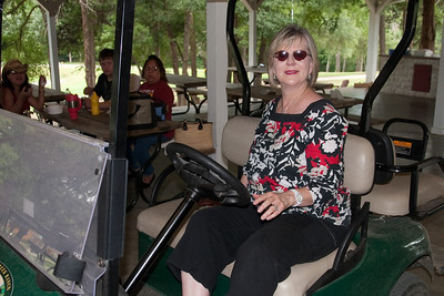 """Cheryl Giacomazzi in her """"transportation mode."""" 2010 Kane / Kennemer Family Reunion in Canton, Texas (Image taken by Patrick R. Kane on 21 Jul 2010 with Canon EOS 20D at ISO 100, f4.0, 1/60 sec and 19mm)"""