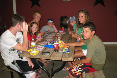 Not sure if Willy Winborne doesn't want to be seen with the Hand and Foot card players or if he is just shy. Card players are Rachel Kane, Grady Roth, Sydney Kane and Katie Cano. Onlookers are Christopher Kane and Joey Cano. 2010 Kane / Kennemer Family Reunion in Canton, Texas (Image taken by Kathy L. Kane on 21 Jul 2010 with Canon PowerShot SD870 IS at ISO 0, f2.8, 1/60 sec and 4.6mm)