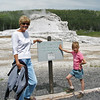 Maren and Grandma at Yellowstone Park