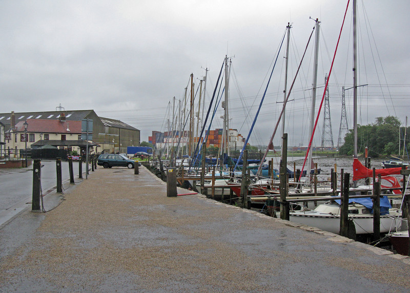A look back along the Quay side towards the Anchor Pub.